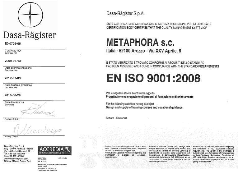 certificazione DASA